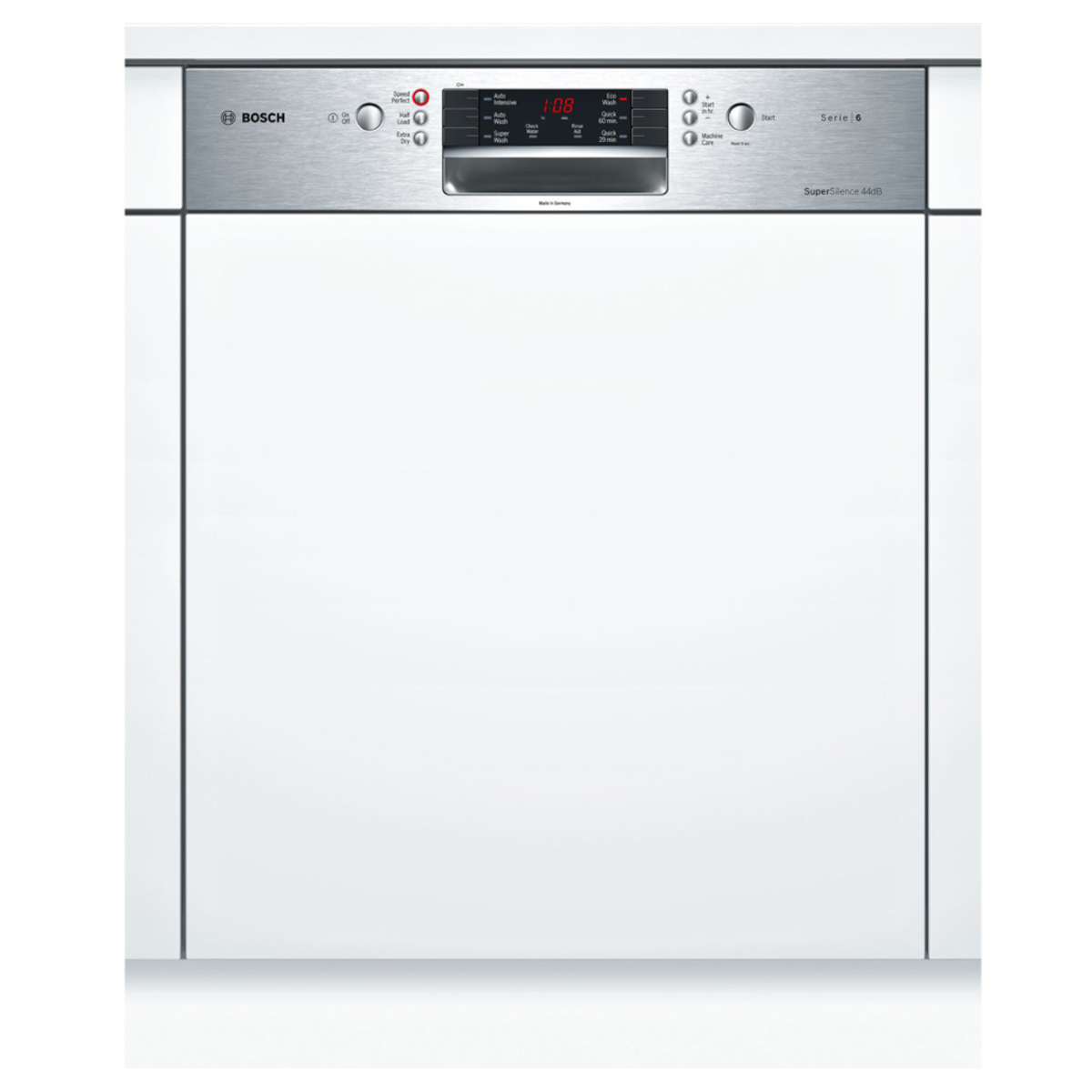 bosch smi66ms01a serie 6 semi integrated dishwasher up. Black Bedroom Furniture Sets. Home Design Ideas