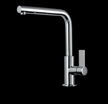 Abey 17051B Gessi Emporio Sink Mixer With Flat Lever Black 119751