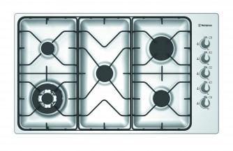 Westinghouse WHG951SB Stainless steel 5 Burner Gas cooktop with Flame failure 115653