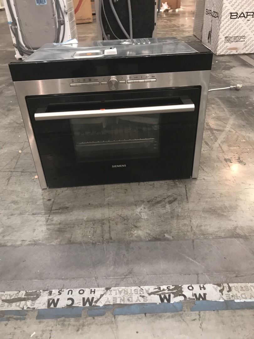 Siemens HB36D575BP 60cm Stainless Steel Combination Steam Oven