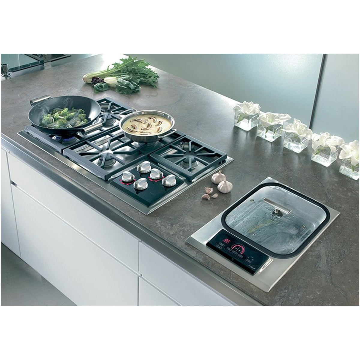 Wolf ICBIS15S Electric Steamer Cooktop 139354