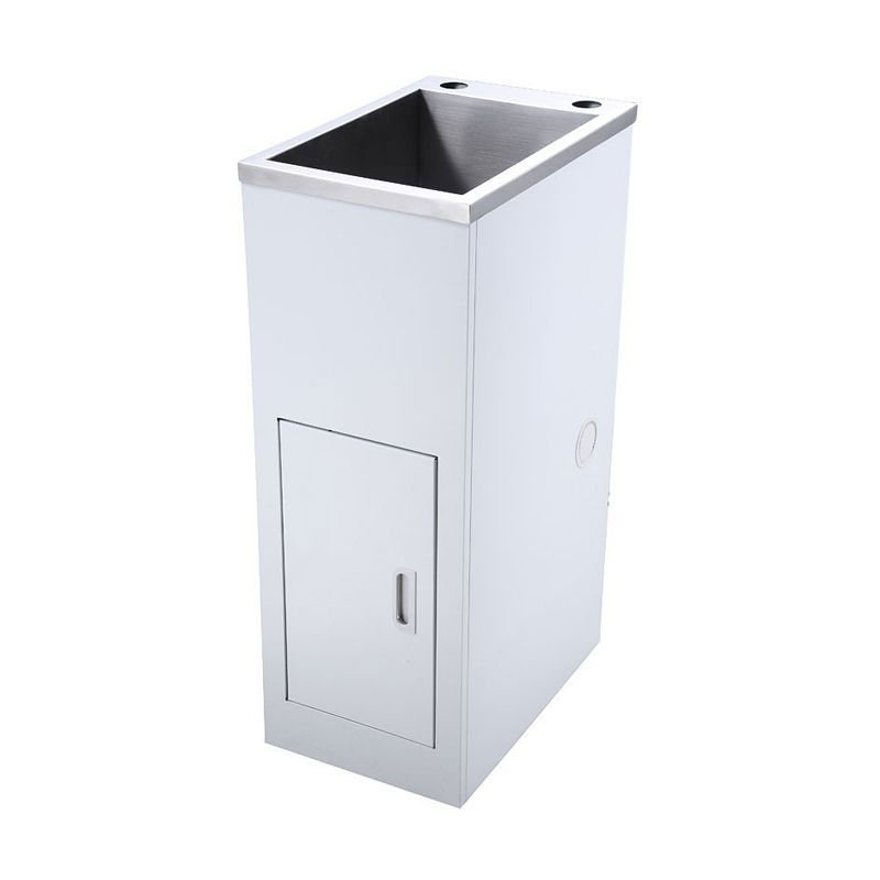 Sterling SFSWCSUP3302H Super Mini Stainless Steel Laundry Tub & White Colour Cabinet 330 148600