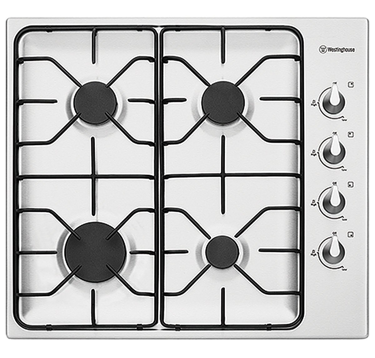 Westinghouse WHG640SB 60cm Natural Gas Cooktop 156781