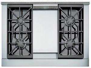 Wolf 91cm Freestanding Dual Fuel Oven/Stove with Infrared Teppanyaki ICBDF364GNG 224104