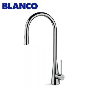 Blanco BL64200BR Brushed Swan Neck Mixer Tap 262177