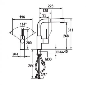 KWC 10151003000 ONO Pull-Out Spray Mixer 264996