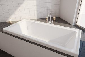 Decina CO1675W Cortez 1670mm Inset Bath with Tiling Bead 265122