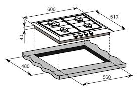 InAlto 60cm Stainless Steel Gas Cooktop ICGW60S 268994