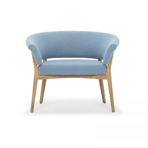 Arc Commercial Furniture DANE-B Andorra Pigeon Blue Velour Armchair 435418