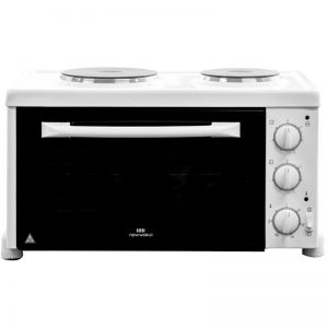 New World NWCOMPACT Benchtop Oven with Grill and Sealed Plate Hob 526398