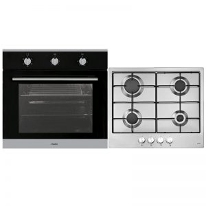Esatto EOG6FF1 60cm Electric Oven & 60cm Natural Gas Cooktop Pack 719741