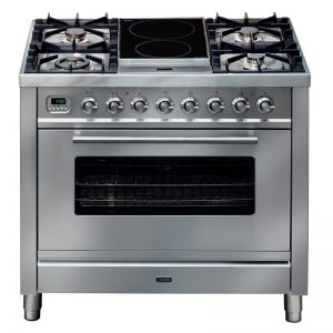 ILVE PW90IMPSS 90cm Freestanding Dual Fuel Oven/Stove 853616