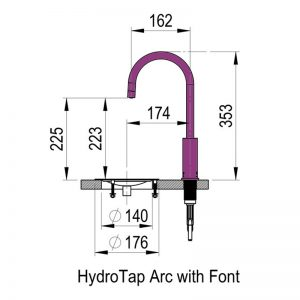 Zip HT2783Z5 HydroTap Arc Boiling Chilled and Sparkling Filtered Water 956060