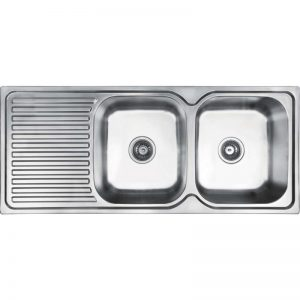 Abey EN200R Entry Double Bowl Left Hand Drainer Sink 988056