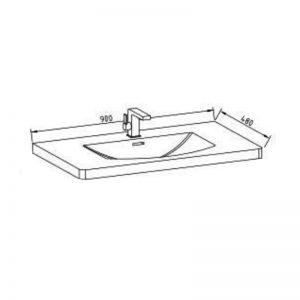 Innova G-900W-MCTOP Grace 900 Main Cabinet Top Only  1 Tap Hole 1083829