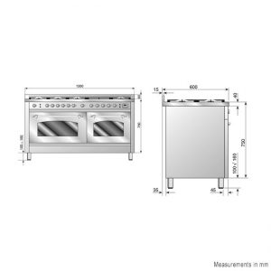 ILVE PN150FRMP/M 150cm Freestanding Electric Oven 1249012