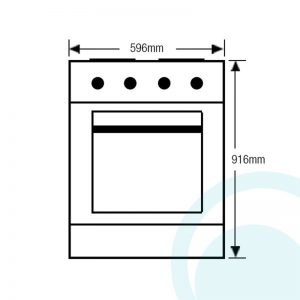 Westinghouse WFG617WA 60cm Freestanding Natural Gas Oven/Stove 1319318