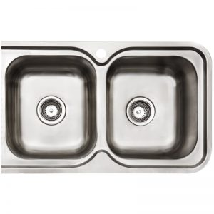 Arc IS12RS4 Double Bowl Left Hand Drainer Inset Sink 1362078
