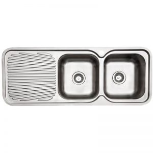 Arc IS12RS4 Double Bowl Left Hand Drainer Inset Sink 1362080