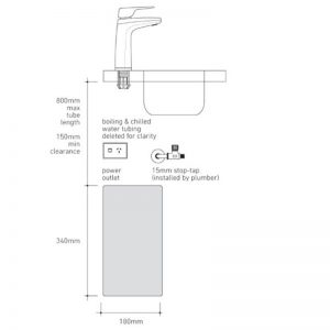 Billi 914000LMW B-4000 Boiling and Still Filtered Water with XL Levered Dispenser 1391862