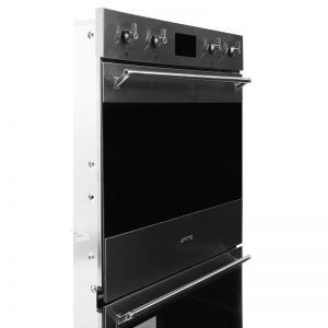 Smeg DOSPA6395X 60cm Classic Aesthetic Pyrolytic Electric Built-In Double Oven 1540564