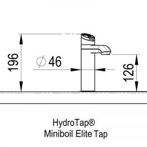 Zip HT1016Z1 HydroTap MiniBoil Boiling and Ambient Filtered Water 1551650