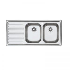 Barazza BF200R B-Fast Double Bowl Left Hand Drainer Sink 1552648