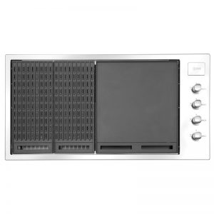 Ilve ILBBQ304 4 Burner Built-In Natural Gas BBQ (Lid Sold Separately) 1733182