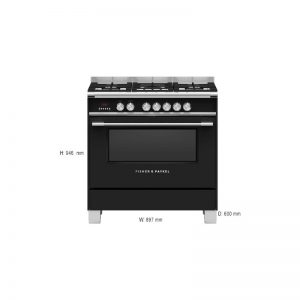 Fisher & Paykel OR90SCG4B1 90cm Freestanding Dual Fuel Oven/Stove 1834008