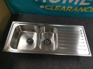 Abey EUA180L Euronox 1 and 1/2 Bowl Right Hand Drainer Sink 1844233