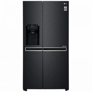 LG 668L Side by Side Fridge with Non-Plumbed Ice & Water Dispenser Matte Black GS-L668MBNL 1857413