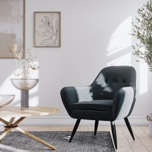 Ostro WA0120BCHAR Winton Accent Chair Charcoal 1878513