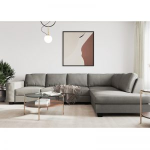 Ostro Tilba Four Seater Right Hand Chaise Lounge Steel U2370ZRHFCSXSHX 1880189