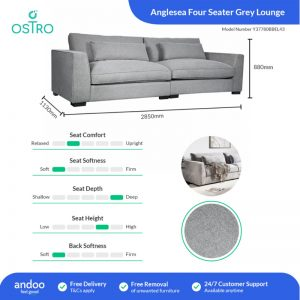 Ostro Anglesea Four Seater Lounge Grey Y37780BBEL43 1880542