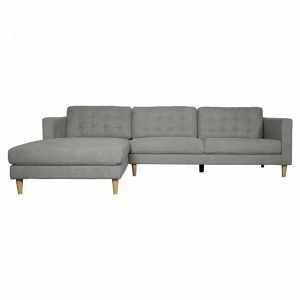 Ostro Esperence Three Seater Left Hand Chaise Lounge Steel U501SALHFCSXSHX 1880252