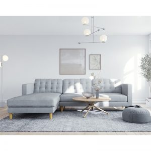 Ostro Esperence Three Seater Left Hand Chaise Lounge Steel U501SALHFCSXSHX 1880253