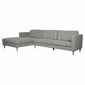 Ostro Esperence Three Seater Left Hand Chaise Lounge Steel U501SALHFCSXSHX 1880255